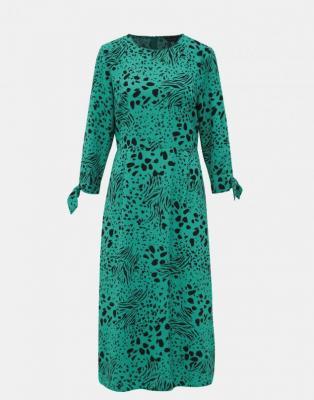 Sukienka midi w zielone wzory Dorothy Perkins - XS