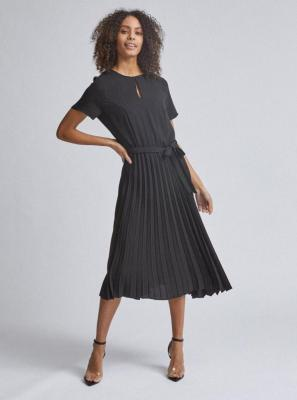 Czarna plisowana sukienka midi Dorothy Perkins - XS