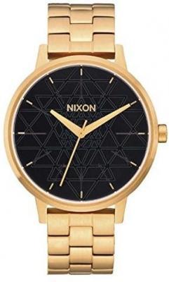 Nixon KENSINGTON GOLDBLACKSTAMPED kobiety zegarek analogowy