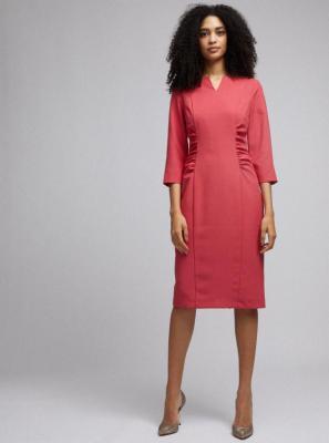 Różowa sukienka kopertowa Dorothy Perkins - S