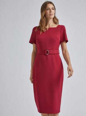 Sukienka midi w czerwonej osłonie Dorothy Perkins - XS