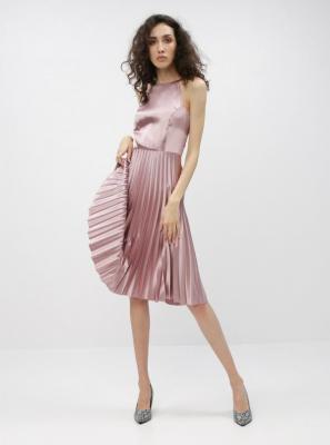 Różowa sukienka z plisowaną spódnicą Dorothy Perkins - L