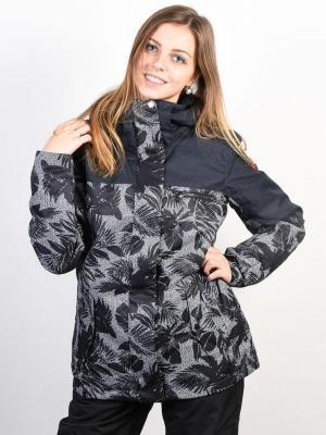Roxy RX JETTY BLO TRUE BLACK_FLORAL HERRINGBONE kurtka zimowa kobiety - S