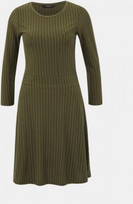 Khaki sukienka w paski ONLY  - XS