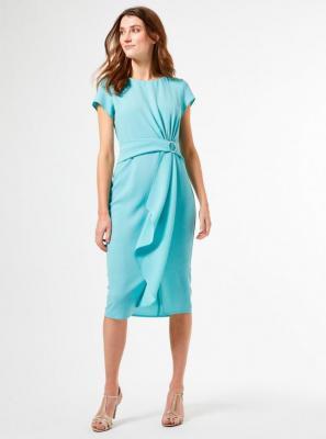 Turkusowa sukienka ołówkowa Dorothy Perkins - S