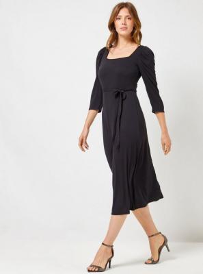 Czarna sukienka midi Dorothy Perkins Moly - S