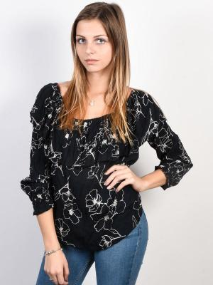 Billabong SWAYING PALMS black koszulka damska z długimi rękawami - S