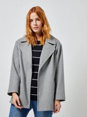 Szary krótki płaszcz Dorothy Perkins - S