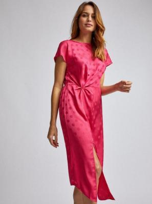 Ciemnoróżowa sukienka midi w kropki Dorothy Perkins - XS