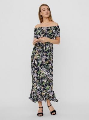 Vero Moda niebieskia sukienka maxi Phoebe z mowytami kwiecistymi - XS