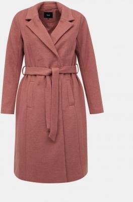 Stary różowy płaszcz z mieszanką wełny Zizzi Yoland - XL