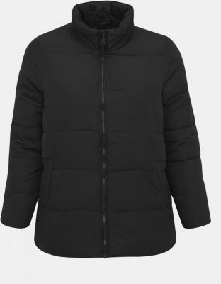 Czarna pikowana kurtka zimowa Zizzi Selma - XL-XXL