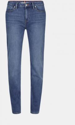 Niebieskie dżinsy damskie o prostym kroju Tommy Hilfiger - XS
