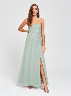 Szara sukienka bez ramiączek bez ramiączek Little Mistress - XS