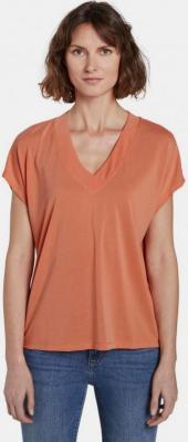 Pomarańczowa koszulka damska Tom Tailor - XS