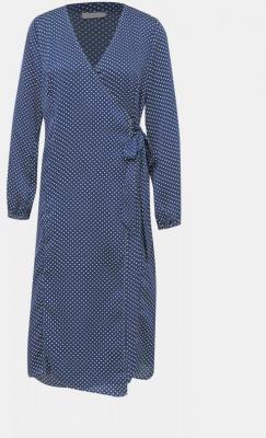 Granatowa sukienka midi w kropki VILA Dotta - XS