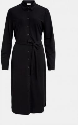 Czarna sukienka koszulowa VILA Safina - XS