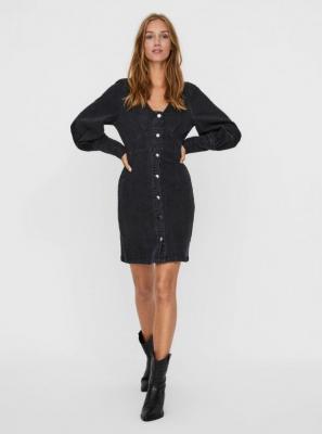 Czarna dżinsowa sukienka VERO MODA Bernice - XS