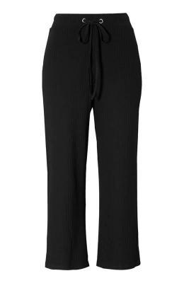 Amy's Stories Spodnie typu culotte zpr??kowanego materia?u Ottavia  Czarny