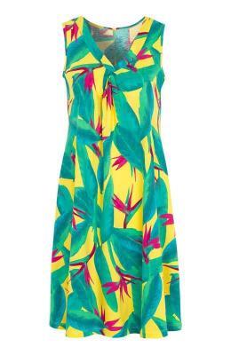 Cellbes Rozkloszowana sukienka z d?erseju z kwiatowym wzorem ?ó?ty we wzory