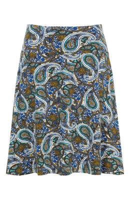 Cellbes Krótka spódnica d?ersejowa kolorowy wzór paisley