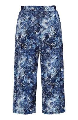 Cellbes Wzorzyste spodnie typu culotte zd?erseju niebieski we wzory