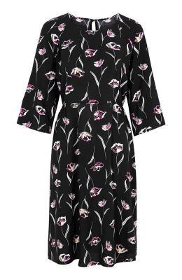Cellbes Wzorzysta sukienka z raglanowymi r?kawami Czarny w kwiaty