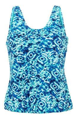Cellbes Tankini wniebieskie wzory niebieski we wzory