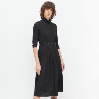 Reserved - Sukienka z golfem - Czarny