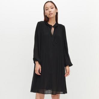 Reserved - Plisowana sukienka - Czarny