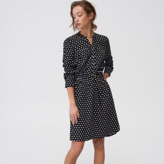 Mohito - Koszulowa sukienka w grochy - Czarny