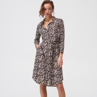 Mohito - Koszulowa sukienka midi - Beżowy