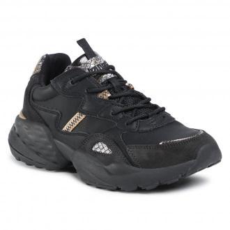Sneakersy WRANGLER - Iconic 90 Snake WL02691A Black/Gold 319