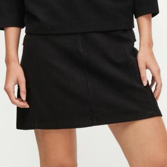 Reserved - Trapezowa spódnica mini - Szary