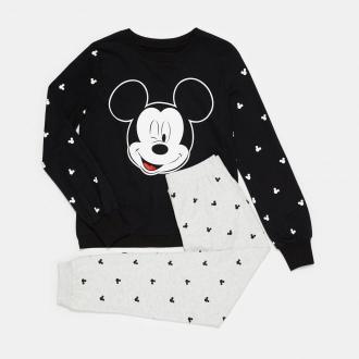 Sinsay - Dwuczęściowa piżama Mickey Mouse - Czarny