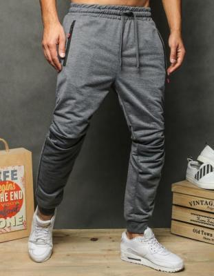 Spodnie męskie dresowe ciemnoszare UX2630
