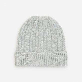 Reserved - Melanżowa czapka z dzianiny - Jasny szary