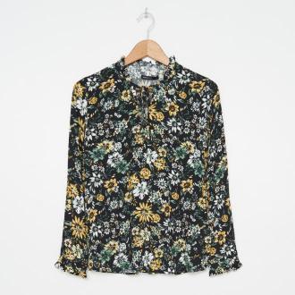 House - Wiskozowa bluzka w kwiaty - Wielobarwny