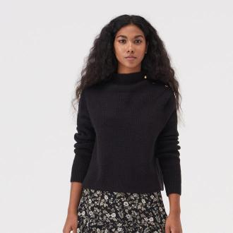 Sinsay - Sweter z ozdobnymi elementami - Czarny