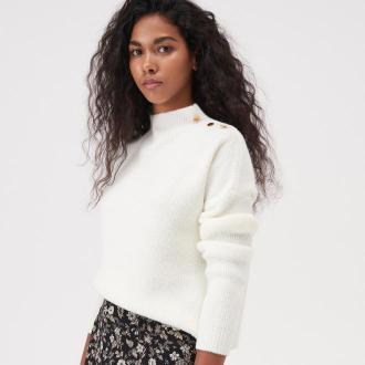 Sinsay - Sweter z ozdobnymi elementami - Kremowy