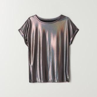 Mohito - Błyszcząca bluzka z krótkim rękawem - Czarny