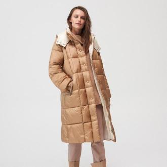 Mohito - Długa pikowana kurtka - Beżowy