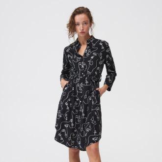 Mohito - Koszulowa sukienka midi - Czarny
