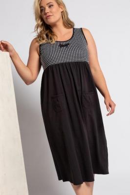Duże rozmiary Koszula nocna, damska, czarny, rozmiar: 50/52, baweÅna, Ulla Popken