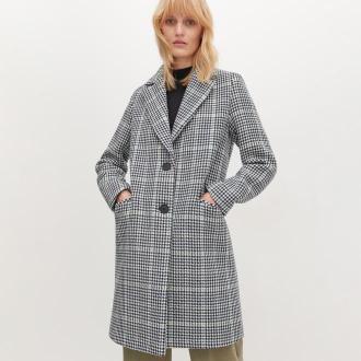 Reserved - Wełniany płaszcz w kratę - Wielobarwny