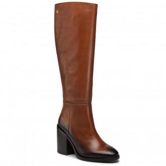 Kozaki TOMMY HILFIGER - Shaded Leather Long Boot FW0FW05174 Pumpkin Paradise GOW