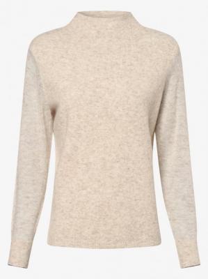 Calvin Klein - Sweter damski z dodatkiem alpaki, beżowy