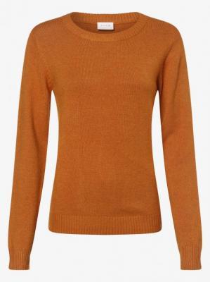 Vila - Sweter damski – VIRil, pomarańczowy