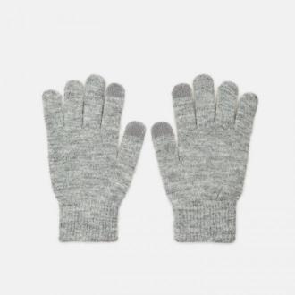 Cropp - Rękawiczki basic - Jasny szary