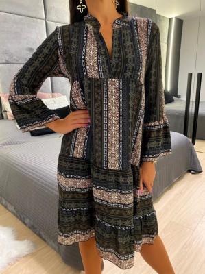 Sukienka Oversize w Orientalny Wzór 5067-319